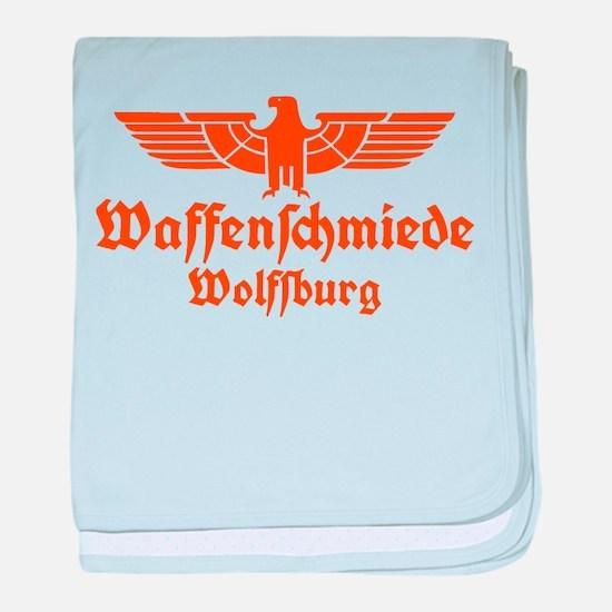 Waffenschmiede Wolfsburg Orange baby blanket