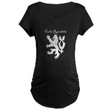 Double tailed lion black Maternity T-Shirt