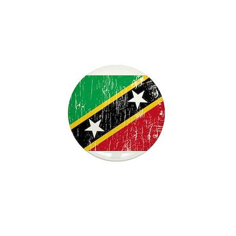 Vintage Saint Kitts and Nevis Mini Button