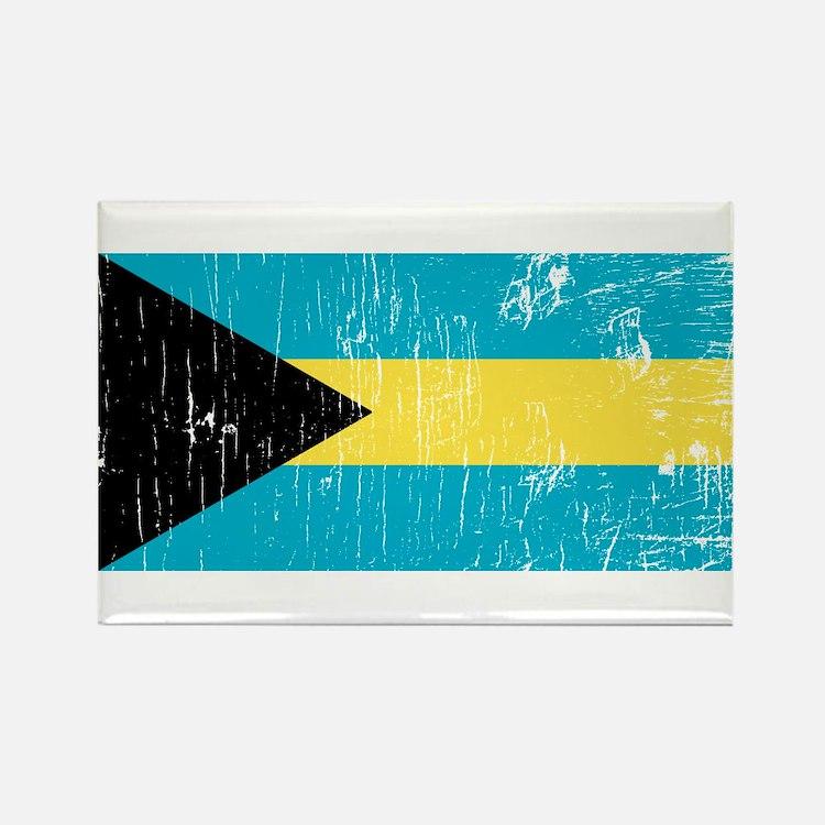 Vintage Bahamas Rectangle Magnet