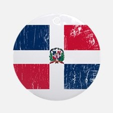 Vintage Dominican Republic Ornament (Round)