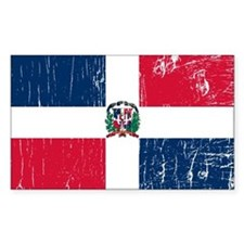 Vintage Dominican Republic Rectangle Decal