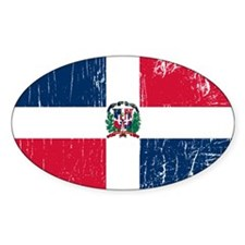 Vintage Dominican Republic Oval Decal