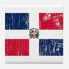 Vintage Dominican Republic Tile Coaster