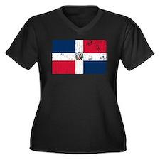 Vintage Dominican Republic Women's Plus Size V-Nec
