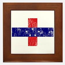 Vintage Netherlands Antilles Framed Tile