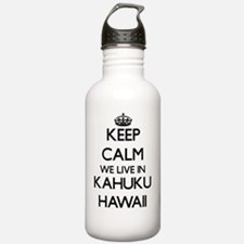 Keep calm we live in K Water Bottle
