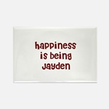 happiness is being Jayden Rectangle Magnet