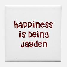 happiness is being Jayden Tile Coaster