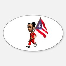 Puerto Rico Girl Oval Decal