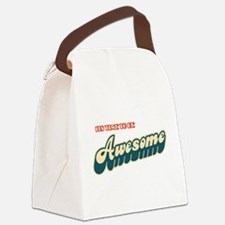 Time to be Awesome Canvas Lunch Bag