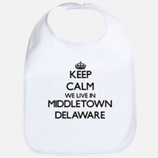 Keep calm we live in Middletown Delaware Bib