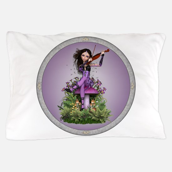 Amethyst Fairy and Violin Pillow Case