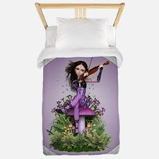 Amethyst Fairy and Violin Twin Duvet