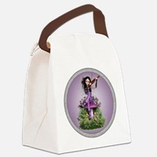 Amethyst Fairy and Violin Canvas Lunch Bag