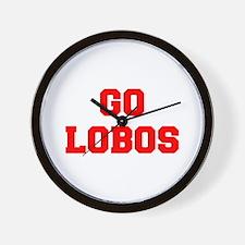 LOBOS-Fre red Wall Clock