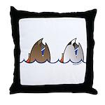 Duck Butts Throw Pillow