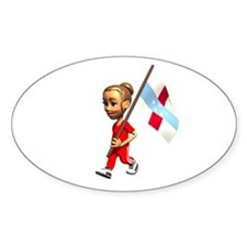 Netherlands Antilles Girl Oval Decal