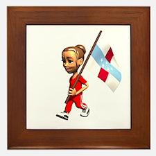 Netherlands Antilles Girl Framed Tile