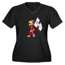 Netherlands Antilles Girl Women's Plus Size V-Neck
