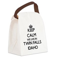 Keep calm we live in Twin Falls I Canvas Lunch Bag