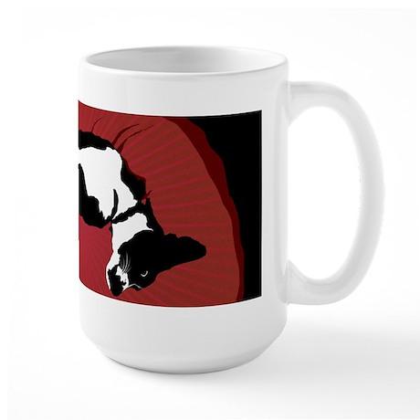 Black and White Dog Large Mug