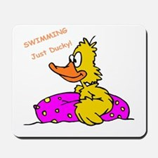 Swimming Yellow Ducky with Float Mousepad