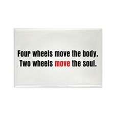 Two Wheels Move The Soul Rectangle Magnet