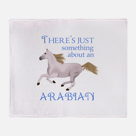 SOMETHING ABOUT AN ARABIAN Throw Blanket