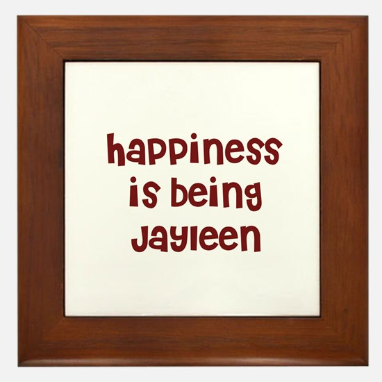 happiness is being Jayleen Framed Tile