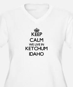Keep calm we live in Ketchum Ida Plus Size T-Shirt