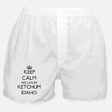 Keep calm we live in Ketchum Idaho Boxer Shorts