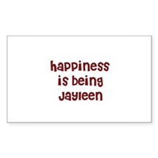 happiness is being Jayleen Rectangle Decal