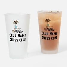 Chess Club Drinking Glass