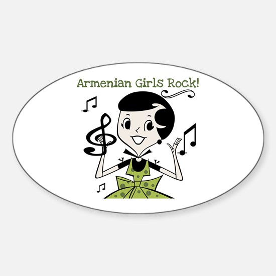 Armenian Girls Rock Oval Decal