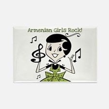 Armenian Girls Rock Rectangle Magnet
