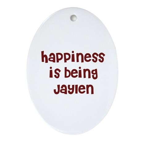happiness is being Jaylen Oval Ornament