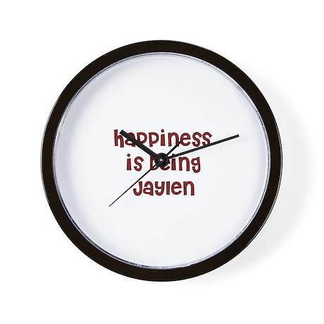 happiness is being Jaylen Wall Clock