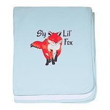 SLY LIL FOX baby blanket