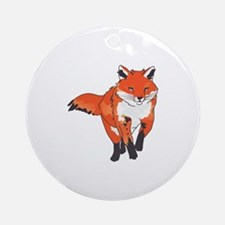 RED FOX Ornament (Round)