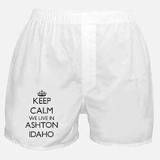 Keep calm we live in Ashton Idaho Boxer Shorts