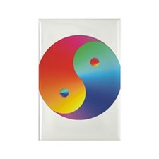 Yin Yang Rainbow Rectangle Magnet