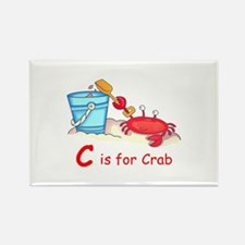 CRAB ON BEACH Magnets