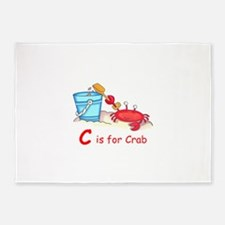 CRAB ON BEACH 5'x7'Area Rug