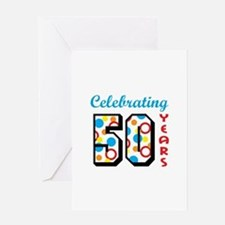 CELEBRATING FIFTY Greeting Cards