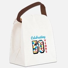 CELEBRATING FIFTY Canvas Lunch Bag