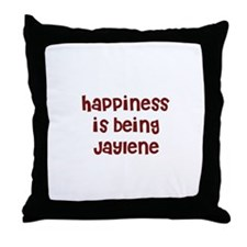 happiness is being Jaylene Throw Pillow
