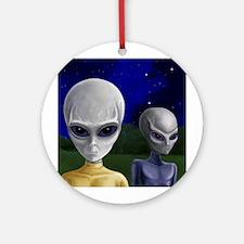 Alien Visit ~ Ornament (Round)