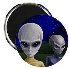 """Alien Visit ~ 2.25"""" Magnet"""