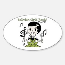 Bolivian Girls Rock Oval Decal